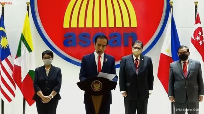 Jokowi Minta 3 Komitmen Junta Militer Myanmar, Hentikan Kekerasan hingga Pembukaan Akses Bantuan